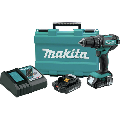 Factory Reconditioned Makita XPH10R-R 18V LXT Lithium-Ion Compact Cordless 1/2 in. Hammer Driver-Drill Kit