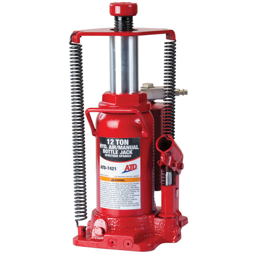 ATD 7421W 12 Ton Heavy-Duty Hydraulic Air-Actuated Bottle Jack image number 0
