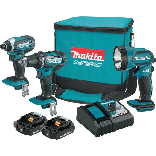 Makita CT320R 18V Compact Lithium-Ion Cordless 3-Piece Combo Kit (2.0 Ah)