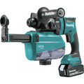 Makita XRH12TW 18V LXT Lithium-Ion 5.0 Ah Brushless 11/16 in. AVT SDS-PLUS AWS Capable Rotary Hammer Kit with HEPA Dust Extractor image number 1