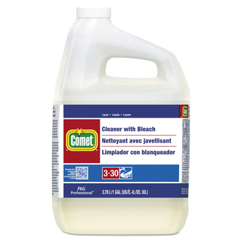 Comet 02291 Cleaner With Bleach, Liquid, One Gallon Bottle, 3/carton
