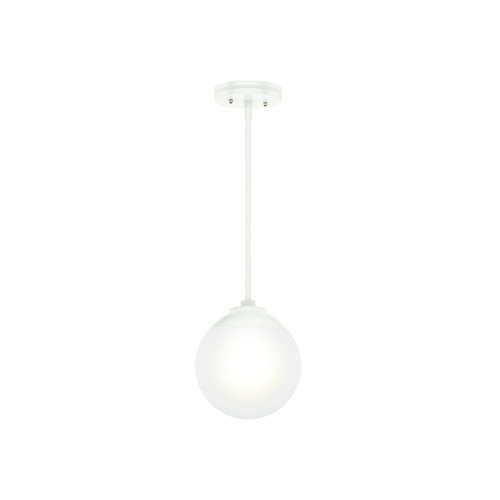 Hunter 19019 Hepburn Matte White 1-Light Sputnik Pendant image number 0