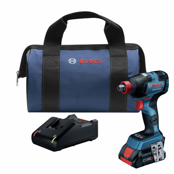 Bosch GDX18V-1800CB15 18V Brushless Socket Ready Impact Driver Kit with 4.0 Ah CORE Compact Battery