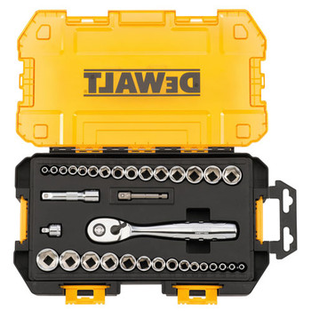 Dewalt DWMT73804 1/4 in. & 3/8 in. Drive Socket Set (34-piece) image number 0