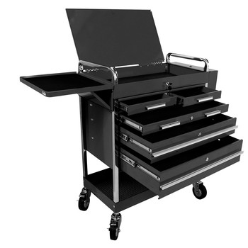 Sunex 8045BK Professional 5-Drawer Service Cart with Locking Top (Black) image number 0