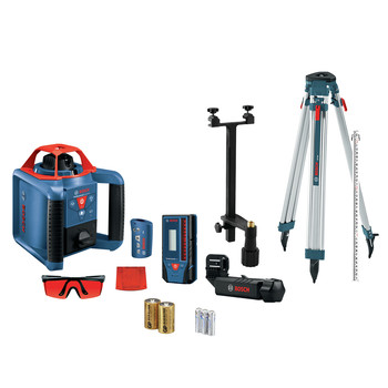 Bosch GRL900-20HVK REVOLVE900 Self-Leveling Rotary Laser Kit with (2) D and (3) Alkaline Batteries
