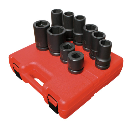 Sunex 5690A 10-Piece 1 in. Drive SAE/Metric Wheel Impact Socket Set
