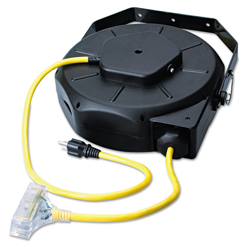 Coleman Cable 172-04820 50 ft. Retractable Industrial Extension Cord Reel (Yellow/Black)