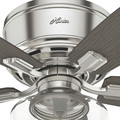 Hunter 53394 52 in. Bennett Brushed Nickel Ceiling Fan with Light and Handheld Remote image number 9