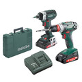 Metabo BS18Q + SSD18 LTX 200 18V 2.0 Ah Cordless Lithium-Ion 3/8 in. Drill Driver and 1/4 in. Impact Driver Combo Kit