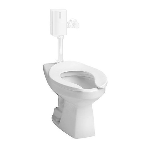 TOTO CT705EN-01 Elongated 2-Piece Commercial Flushometer Toilet (Cotton White)