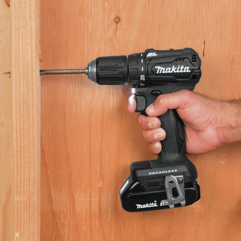 Makita XFD11RB 18V LXT Lithium-Ion Brushless Sub-Compact 1/2 in. Cordless Drill Driver Kit (2 Ah) image number 9
