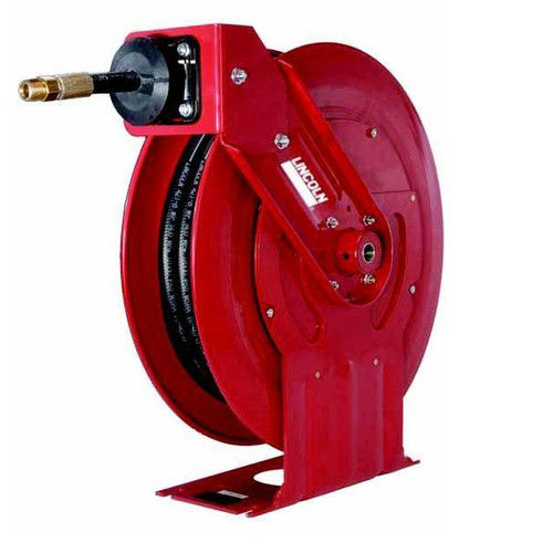 Lincoln Industrial 94354 50 ft. x 1/2 in. Medium Pressure Oil Reel and Hose Assembly
