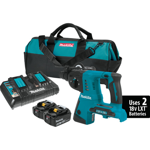 Makita XRH05PT 18V X2 (36V) LXT Cordless Lithium-Ion 1 in. Rotary Hammer Kit