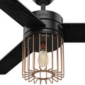 Hunter 59239 52 in. Ronan Black Ceiling Fan image number 3