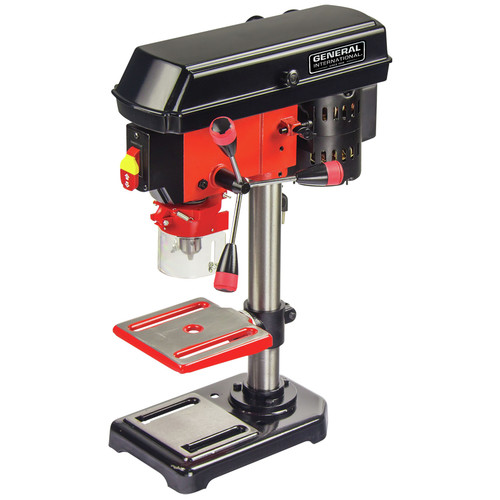 General International DP2001 8 in. 5-Speed 2A Bench Mount Drill Press with Laser System image number 0