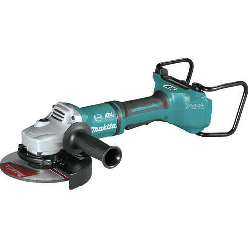 Makita XAG22ZU1 18V X2 LXT Lithium-Ion Brushless Cordless 7 in. Paddle Switch Cut-Off/Angle Grinder with Electric Brake and AWS  (Tool Only) image number 2