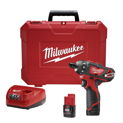 Factory Reconditioned Milwaukee 2406-82 M12 12V Cordless Lithium-Ion 1/4 in. Screwdriver Kit