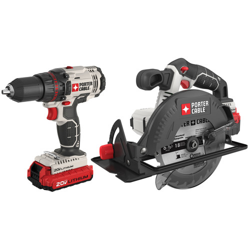 Porter-Cable PCCK605L2 20V Max Cordless Lithium-Ion Drill Driver and Circular Saw Combo Kit