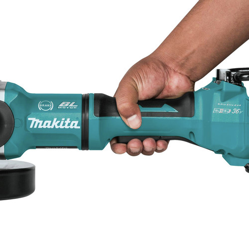 Makita XAG22ZU1 18V X2 LXT Lithium-Ion Brushless Cordless 7 in. Paddle Switch Cut-Off/Angle Grinder with Electric Brake and AWS  (Tool Only) image number 11