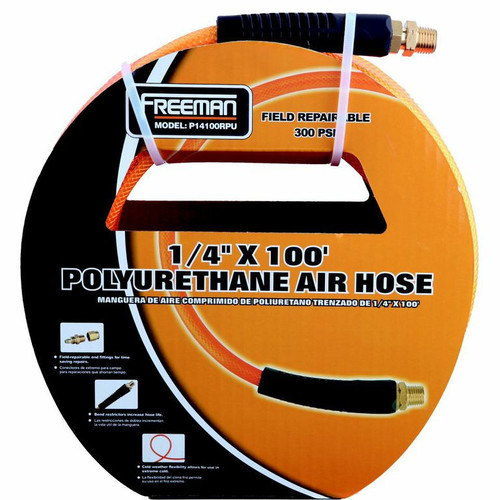 Freeman P14100RPU 100 ft. x 1/4 in. Braided Polyurethane Air Hose