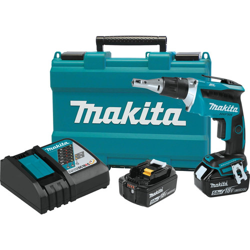 Makita XSF03T 18V LXT Lithium-Ion Brushless Cordless Drywall Screwdriver Kit (5.0Ah)
