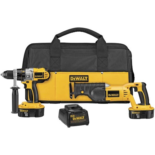 Dewalt DCK251X 18V XRP Cordless 1/2 in. Hammer Drill and Reciprocating Saw Combo Kit