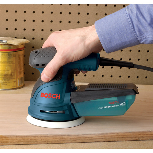 Bosch ROS20VSC 5 in. VS Palm Random Orbit Sander Kit with Canvas Carrying Bag image number 1