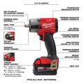 Milwaukee 2962-22 M18 FUEL Lithium-Ion Brushless Mid-Torque 1/2 in. Cordless Impact Wrench Kit with Friction Ring (5 Ah) image number 7
