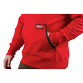 Milwaukee 350R-S Heavy Duty Pullover Hoodie - Red, Small image number 5