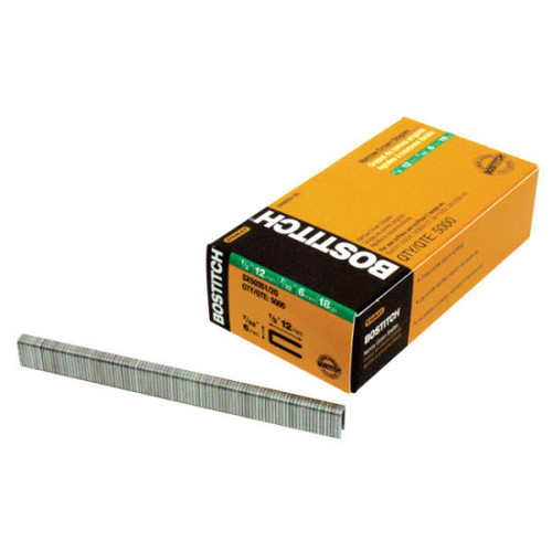 Bostitch SX50351-1/2G 18-Gauge 7/32 in. x 1-1/2 in. Narrow Crown Finish Staples (3,000-Pack)