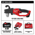 Milwaukee 2807-22 M18 FUEL HOLE HAWG Brushless Lithium-Ion 1/2 in. Cordless Right Angle Drill Kit (6 Ah) image number 1