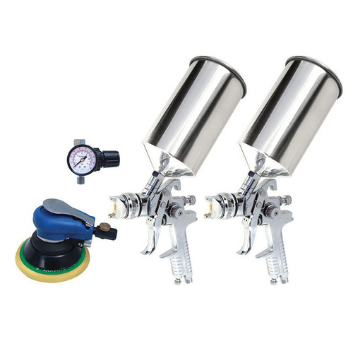 Titan 19223 4-Piece HVLP Dual Setup Spray Gun Kit