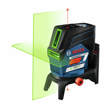 Bosch GCL100-80CG 12V Green-Beam Cross-Line Laser with Plumb Points image number 2