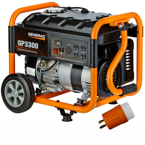 Factory Reconditioned Generac GP3300 GP Series 3,300 Watt Portable Generator