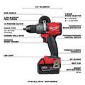 Milwaukee 2998-25 M18 FUEL Brushless Lithium-Ion Cordless 5-Tool Combo Kit (5 Ah) image number 2