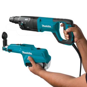 Makita HR2661 7 Amp 1 in. D-Handle Rotary Hammer with HEPA Extractor image number 3