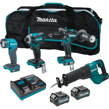 Makita GT401M1D1 40V Max XGT Brushless Lithium-Ion 1-1/4 in. Cordless Reciprocating Saw 4-Tool Combo Kit (2.5 Ah/4 Ah)