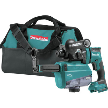 Makita XRH12ZW 18V LXT Lithium-Ion Brushless 11/16 in. AVT SDS-PLUS AWS Capable Rotary Hammer with HEPA Dust Extractor (Tool Only) image number 0
