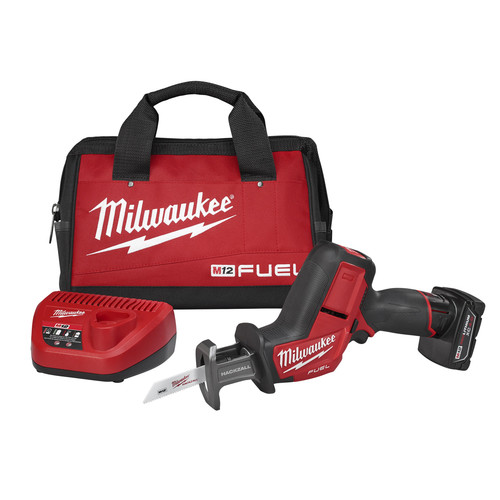 Factory Reconditioned Milwaukee 2520-81XC M12 FUEL 12V Cordless Hackzall Reciprocating Saw Kit with XC Battery