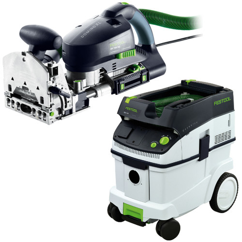 Festool DF 700 Domino XL Joiner with CT 36 E 9.5 Gallon HEPA Mobile Dust Extractor
