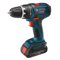Bosch DDS181-02 18V Lithium-Ion Compact Tough 1/2 in. Cordless Drill Driver Kit with (2) Slim Pack HC 2 Ah Batteries image number 1