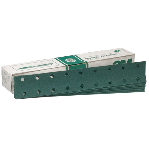 3M 639 Green Corps Hookit Regalite Sheet D/F 2-3/4 in. x 16 in. 80E (50-Pack)