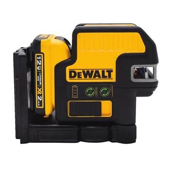 Dewalt DW0822LG 12V MAX Cordless Lithium-Ion 2-Spot Green Cross Line Laser image number 0