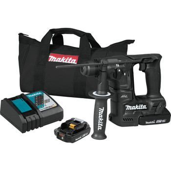 Makita XRH06RB 18V LXT 2.0 Ah Cordless Lithium-Ion Brushless Sub-Compact 11/16 in. Rotary Hammer Kit image number 0