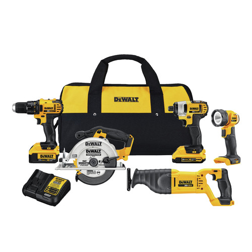 Factory Reconditioned Dewalt DCK520D1M1R 20V MAX Lithium-Ion Compact 5-Tool Kit image number 0