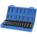 Grey Pneumatic 9728M 28-Piece 1/4 in. Drive 6-Point Metric Standard/Deep Length Master Impact Socket Set image number 0