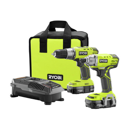 Factory Reconditioned Ryobi ZRP1832 Ryobi 18-Volt ONE Plus Drill/Driver and Impact Driver Kit