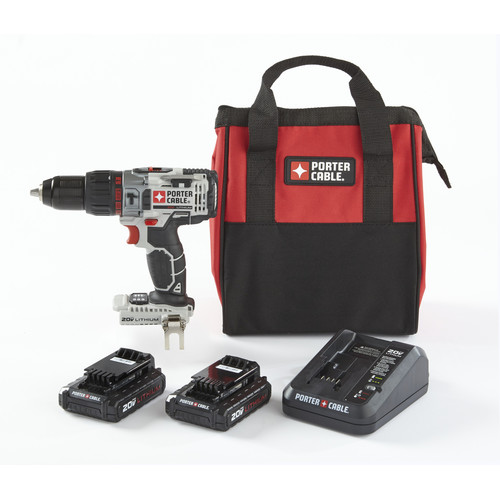 Porter-Cable PCC620LB-CPO 20V MAX 1.5 Ah Cordless Lithium-Ion 1/2 in. Hammer Drill Kit with 2 Batteries