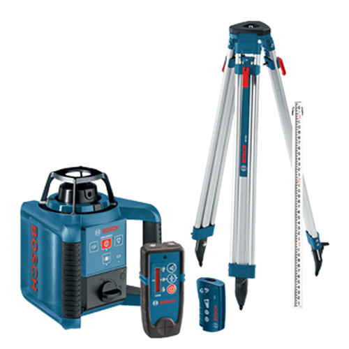 Factory Reconditioned Bosch GRL 250 HVCK-B-RT Dual-Axis Self-Leveling Rotary Laser Kit with Tripod image number 0